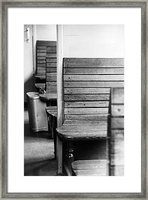 Old Train Compartment Framed Print