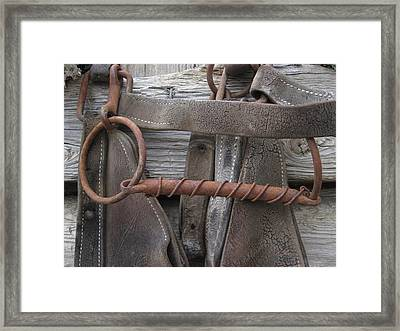 Framed Print featuring the photograph Oldbit by Cheryl Perin