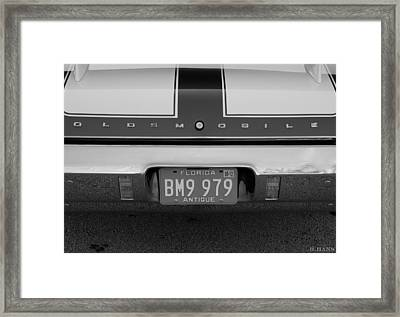 Olds Cs In Black And White Framed Print by Rob Hans