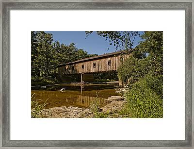 Olins Road Covered Bridge Framed Print
