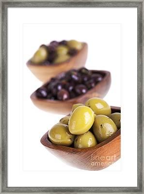 Olive Bowls Framed Print by Jane Rix