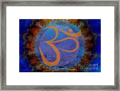 Om Framed Print by Sacred  Muse