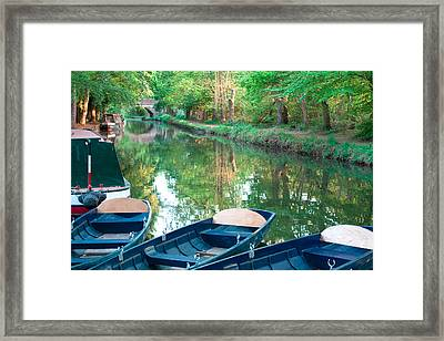 On The Canal Framed Print by Shirley Mitchell