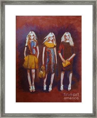 On The Catwalk Framed Print by Phyllis Howard