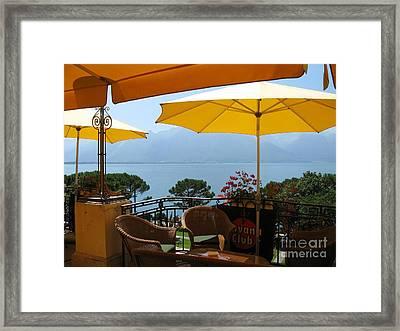 On The Lake Framed Print by Arlene Carmel