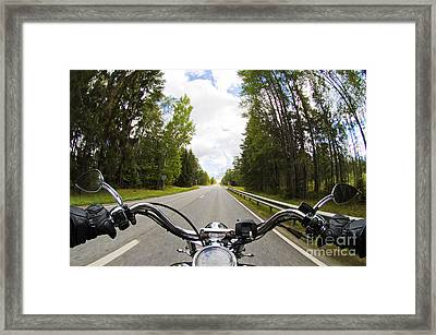 On The Road Framed Print by Micah May