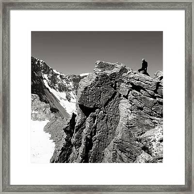 On The Rock Framed Print by Konstantin Dikovsky