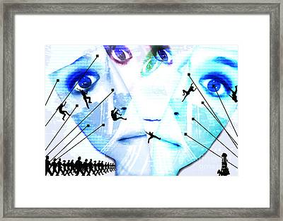 One Vs World Framed Print by Jenn Bodro