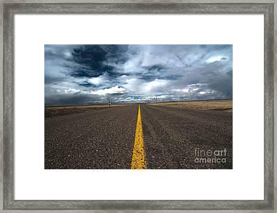 Open Highway Framed Print by Arjuna Kodisinghe