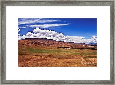 Open Range Framed Print by Robert Bales