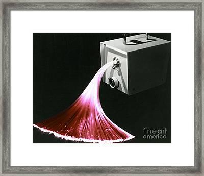 Optical Fibers Framed Print