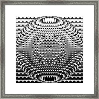 Optical Illusion Circle In Circle Framed Print by Sumit Mehndiratta