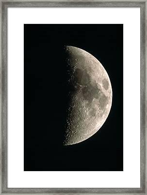 Optical Image Of A Waxing Half Moon Framed Print