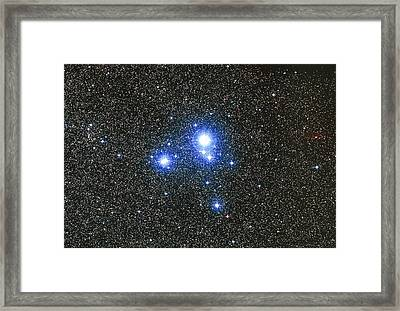 Optical Image Of The Star Cluster Ic 2391 In Vela Framed Print