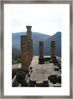 Oracle Of Apollo Framed Print