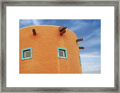 Orange Building Detail Framed Print