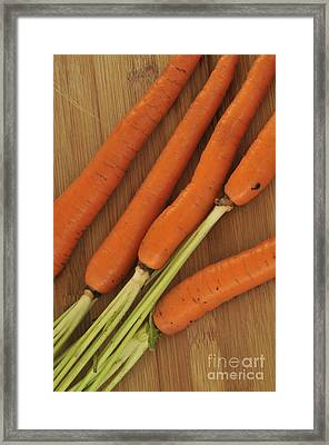 Orange Carrots Framed Print by Timothy OLeary