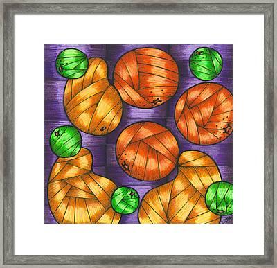 Oranges Lemons And Mangos Framed Print by Hilda Tovar