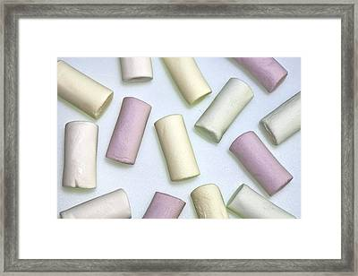 Organic Marshmallows Framed Print by Joana Kruse