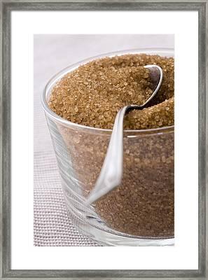 Organic Raw Cane Sugar Framed Print by Frank Tschakert
