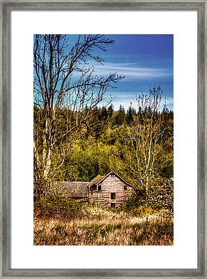 Orting Barn Framed Print by David Patterson
