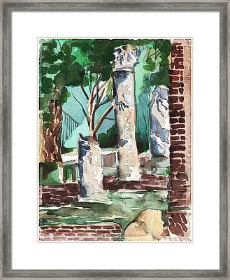 Ostia Antica Framed Print by Mindy Newman