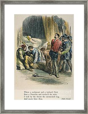 Othello, 19th Century Framed Print