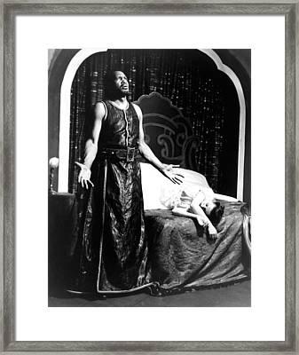 Othello, Uta Hagen As Desdemona, Paul Framed Print by Everett