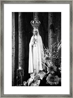 Our Lady Of Fatima Framed Print by Gaspar Avila