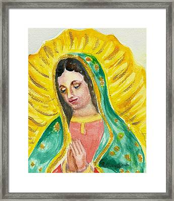 Our Lady Of Guadalupe Framed Print by Susan  Clark