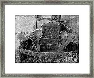 Out Of Service In Black And White Framed Print by Irina Hays