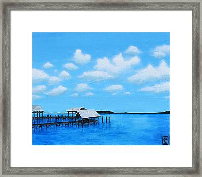 Out To Sea Framed Print by Holly Donohoe