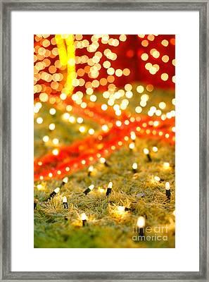 Outdoor Christmas Decorations Framed Print by Gaspar Avila