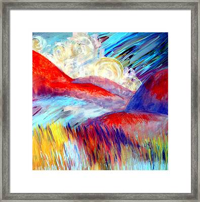 Framed Print featuring the painting Over And Away by Monica Furlow