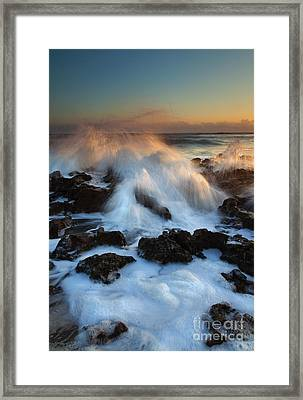 Over The Rocks Framed Print by Mike  Dawson