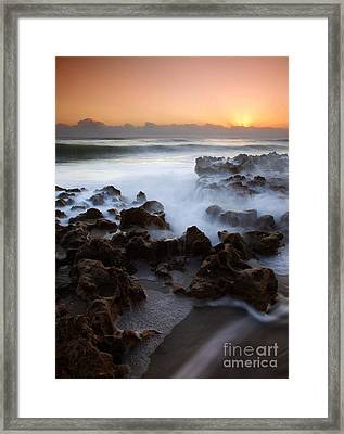 Overwhelmed By The Sea Framed Print by Mike  Dawson