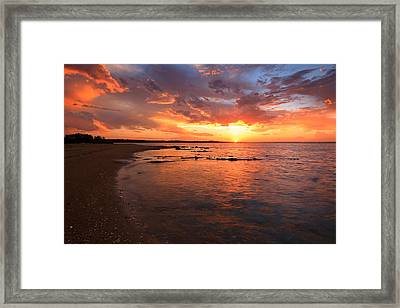 Oyster Cove Sunset Framed Print