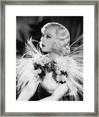 Page Miss Glory, Marion Davies, 1935 Framed Print by Everett