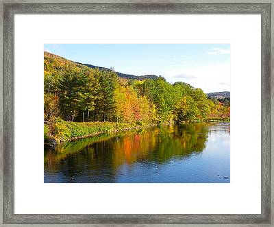 Painted Brook Framed Print
