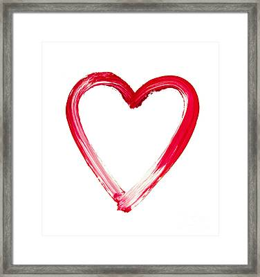 Painted Heart - Symbol Of Love Framed Print by Michal Boubin