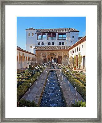 Palace Of The Generalife Framed Print by Rod Jones