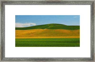 Palouse Panorama Framed Print by Winston Rockwell