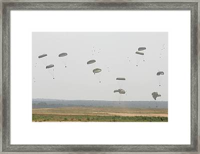 Paratrooper Supplies Coming Framed Print by Skip Brown