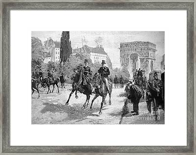 Paris: Bois De Boulogne Framed Print by Granger