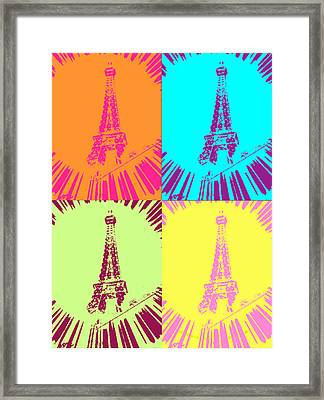 Paris In Vegas Framed Print by Amber Hennessey