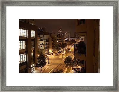 Park Blvd Night Framed Print