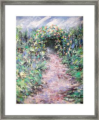 Framed Print featuring the painting Parsons Garden Walk by Cynthia Parsons