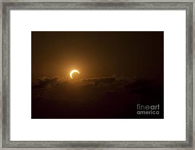 Partial Solar Eclipse Framed Print by Phillip Jones