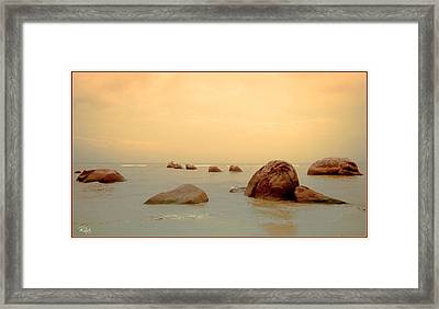 Pastel Rocks Framed Print by Allan Rufus