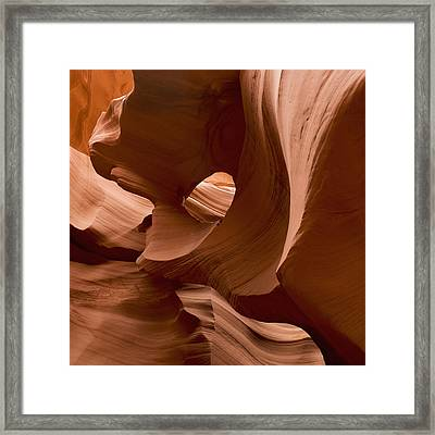 Patterns In The Smooth Sandstone Framed Print by Keith Levit